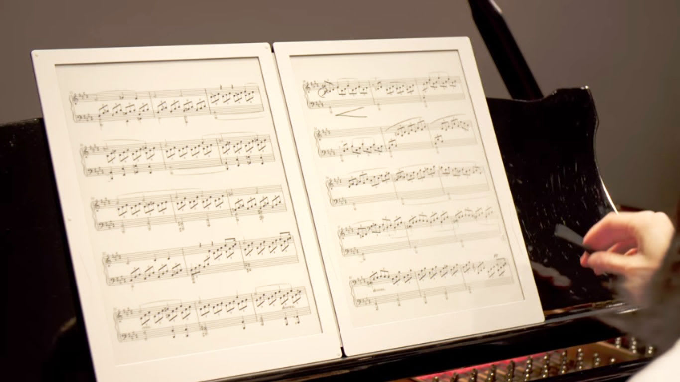 Keep your sheet music organized with Gvido E Ink reader