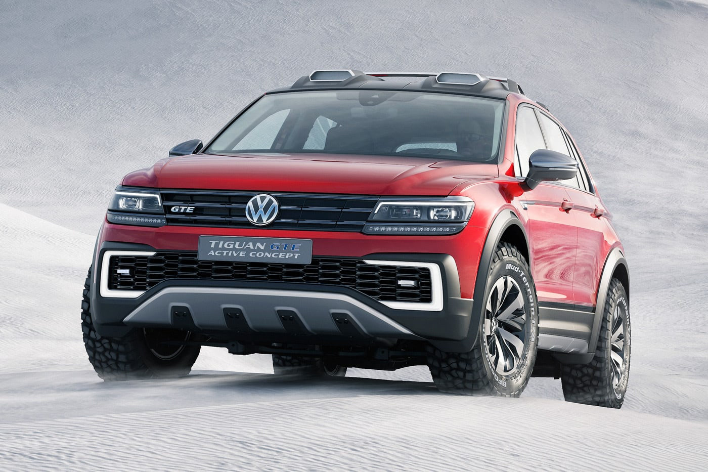 Most Plug In Hybrid Vehicles Are Better Suited To The Streets Than Mud And Rocks But Volkswagen Thinks It Can Make An Exception Its Just Unveiled Tiguan