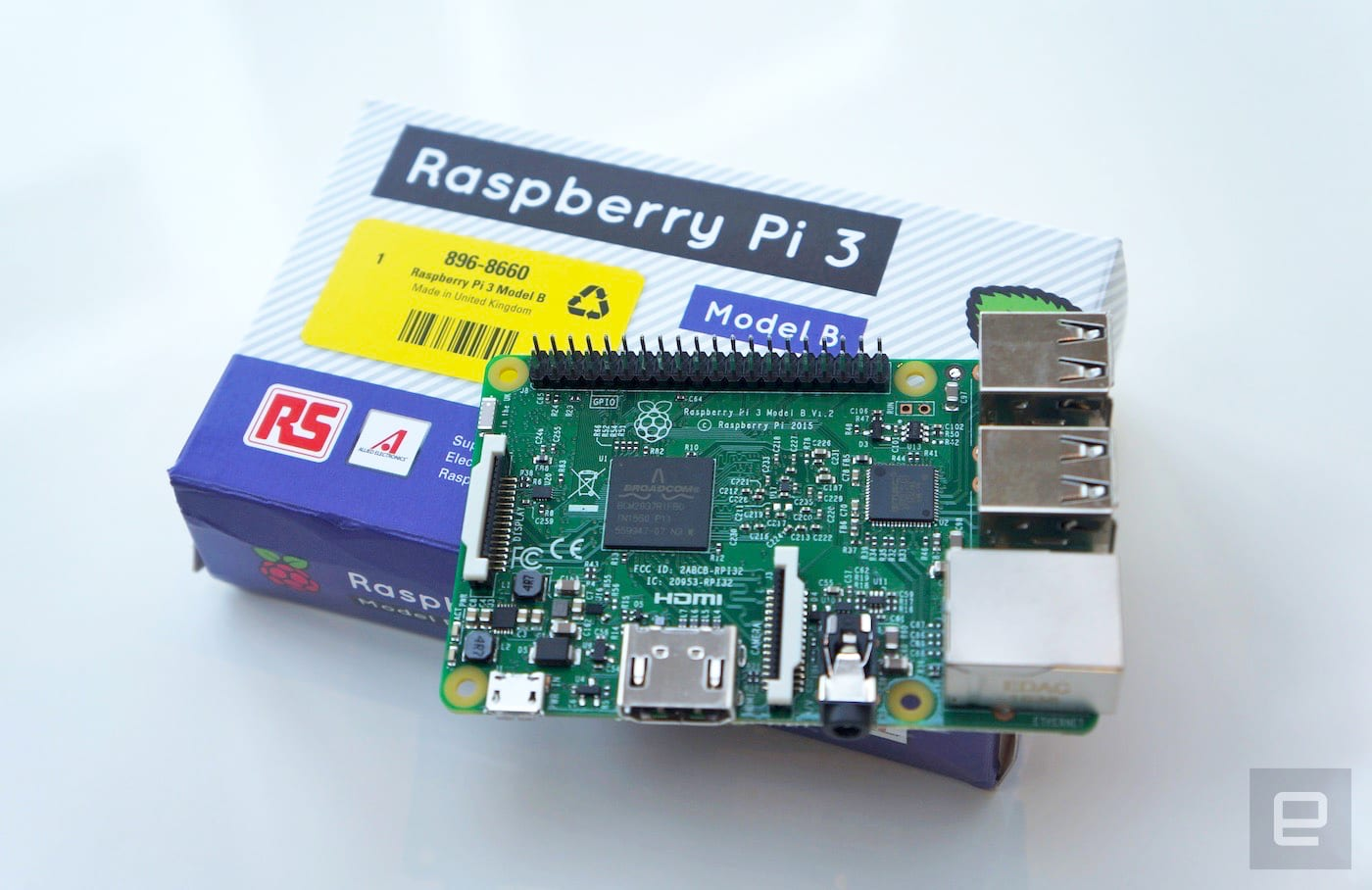 Raspberry Pi 3 has a 64-bit processor and built-in WiFi