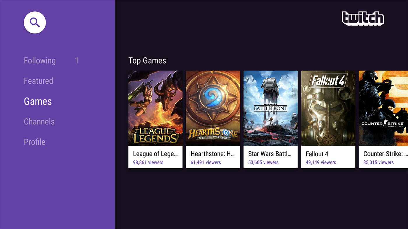 You can finally watch Twitch streams on Android TV