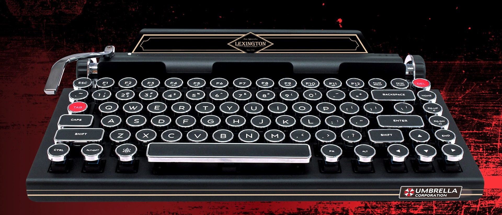 Capcom made a ridiculous typewriter keyboard for 'Resident