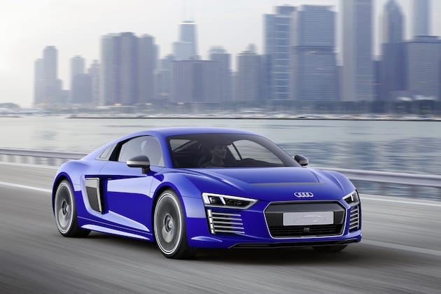 Audi S R8 E Tron Electric Supercar Can Now Drive Itself
