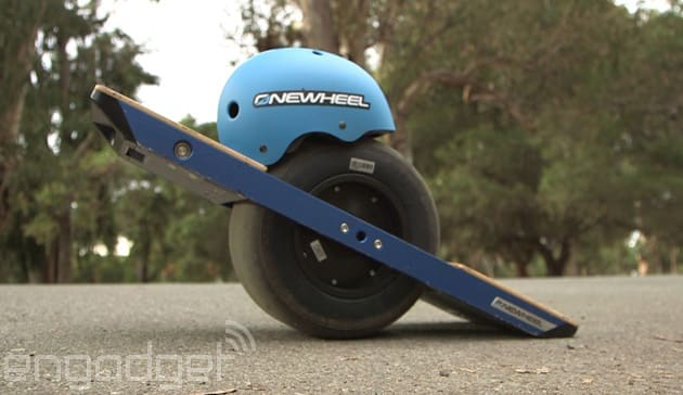 When Kyle Doerksen Brought His Electric Skateboard To Ces Last Year It Looked Like He Stole A Balancing Prop From Local Circus Act The Onewheel Is