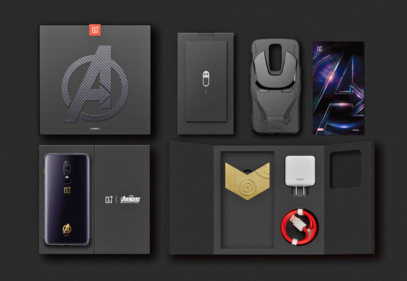 timeless design 9833c 0b77a Feast your eyes on the OnePlus 6 Avengers edition