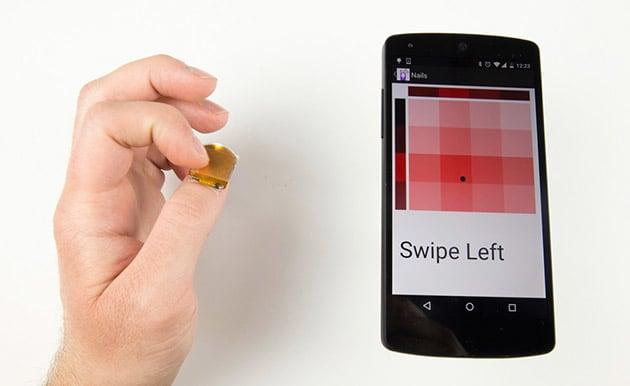 Künstlicher Daumennagel überzeugt als Touchpad
