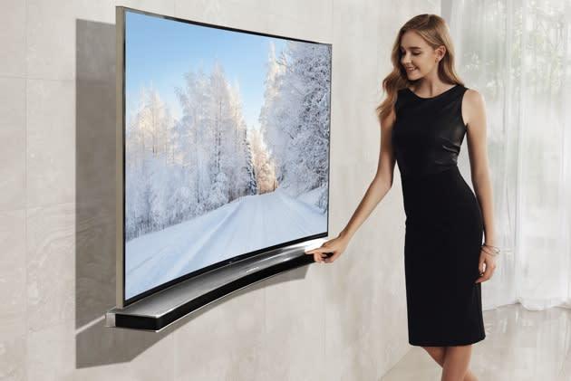 Konsequent: Samsungs Fernseh-Soundbars werden kurvig