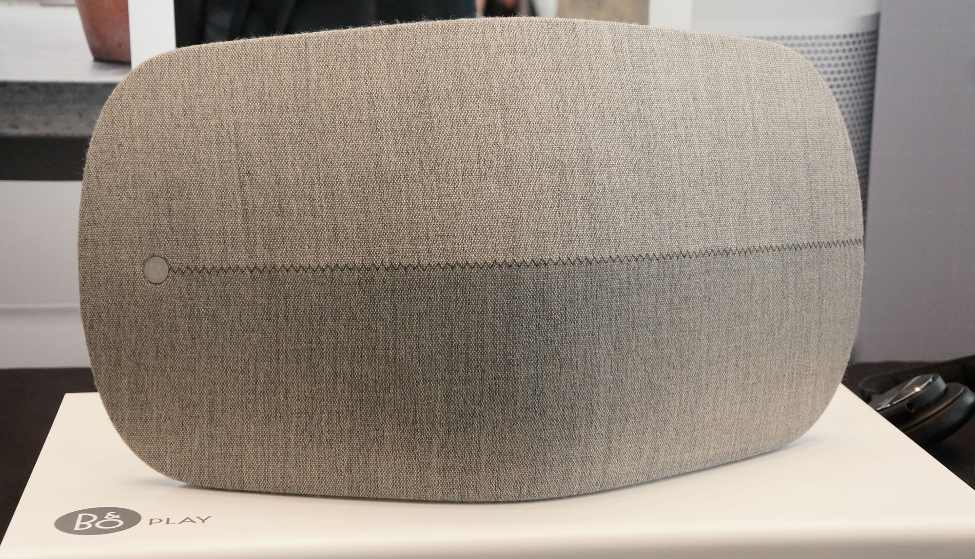 ee2bbffd10d964 Luxury audiovisual brand Bang & Olufsen (B&O) has just announced a pricey  wireless speaker, the $999 BeoPlay A6. The style evokes the back of a  chair, ...