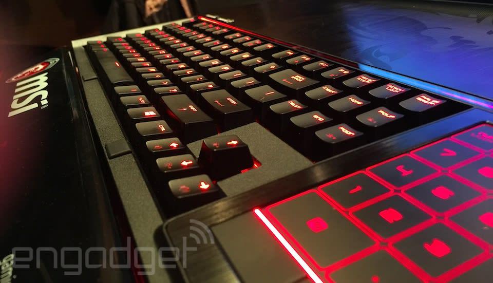 MSI GT80 Titan SLI, un vistazo al primer portátil con teclado mecánico iluminado