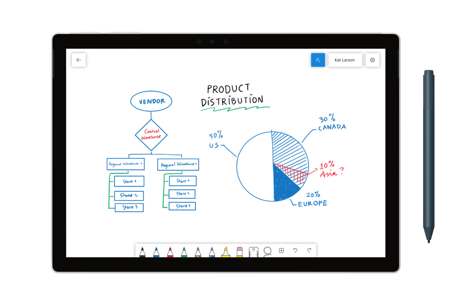 Microsoft's collaborative Whiteboard app is now available