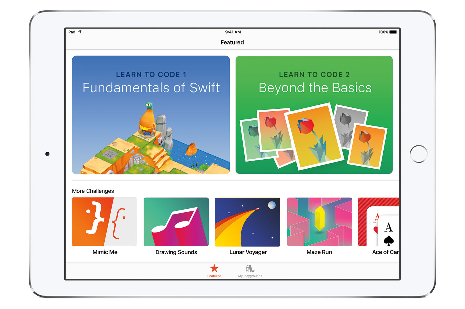 Apple's Swift Playgrounds is an app that teaches kids how to