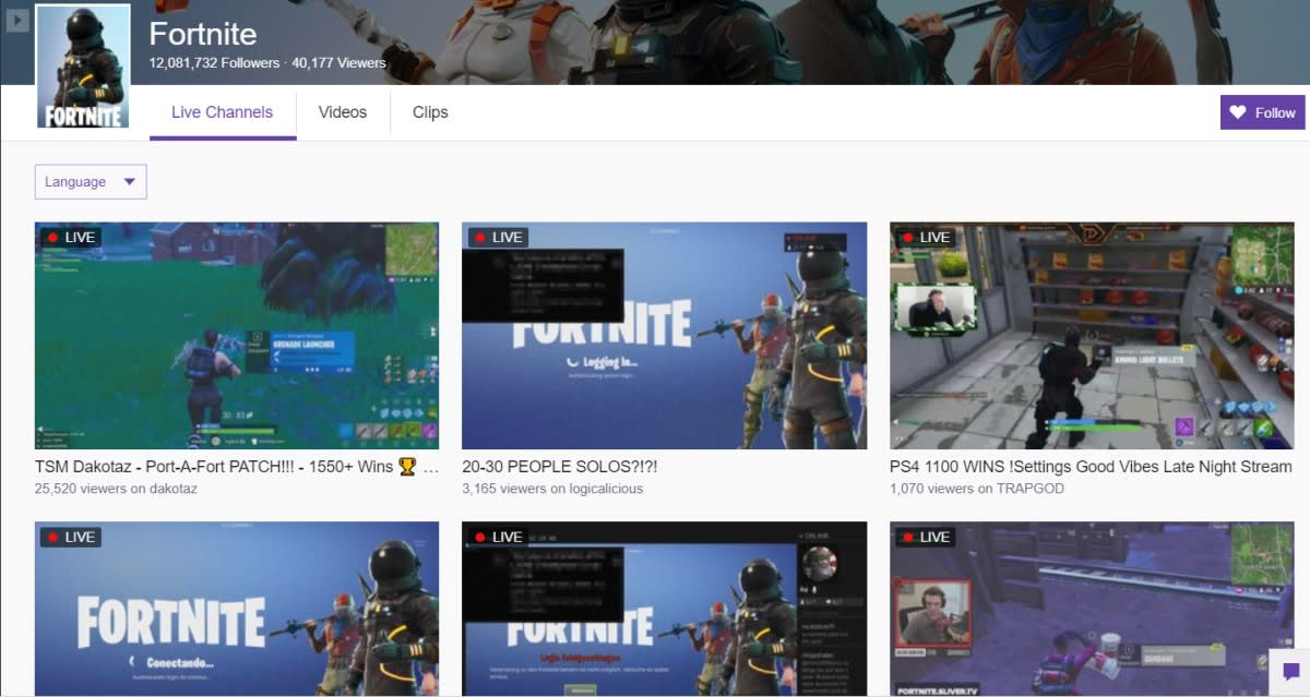 Fortnite' has been down for hours, but don't tell Twitch