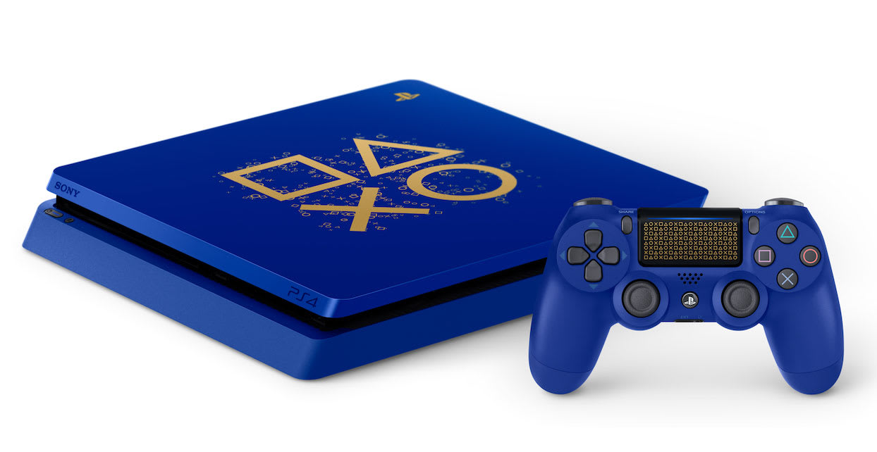 PlayStation's annual sale includes a very blue PS4 and 'God