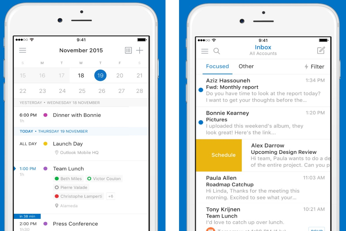 Outlook on iOS and Android gets a facelift from the Sunrise team