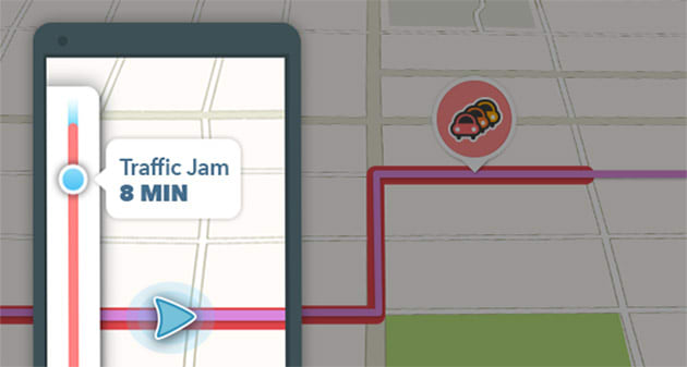 Waze knows how long you'll be stuck in traffic