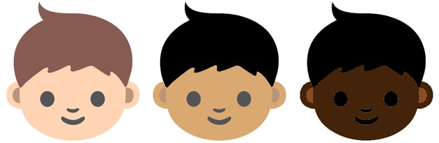 Emoji characters are getting skin tones to reflect human diversity