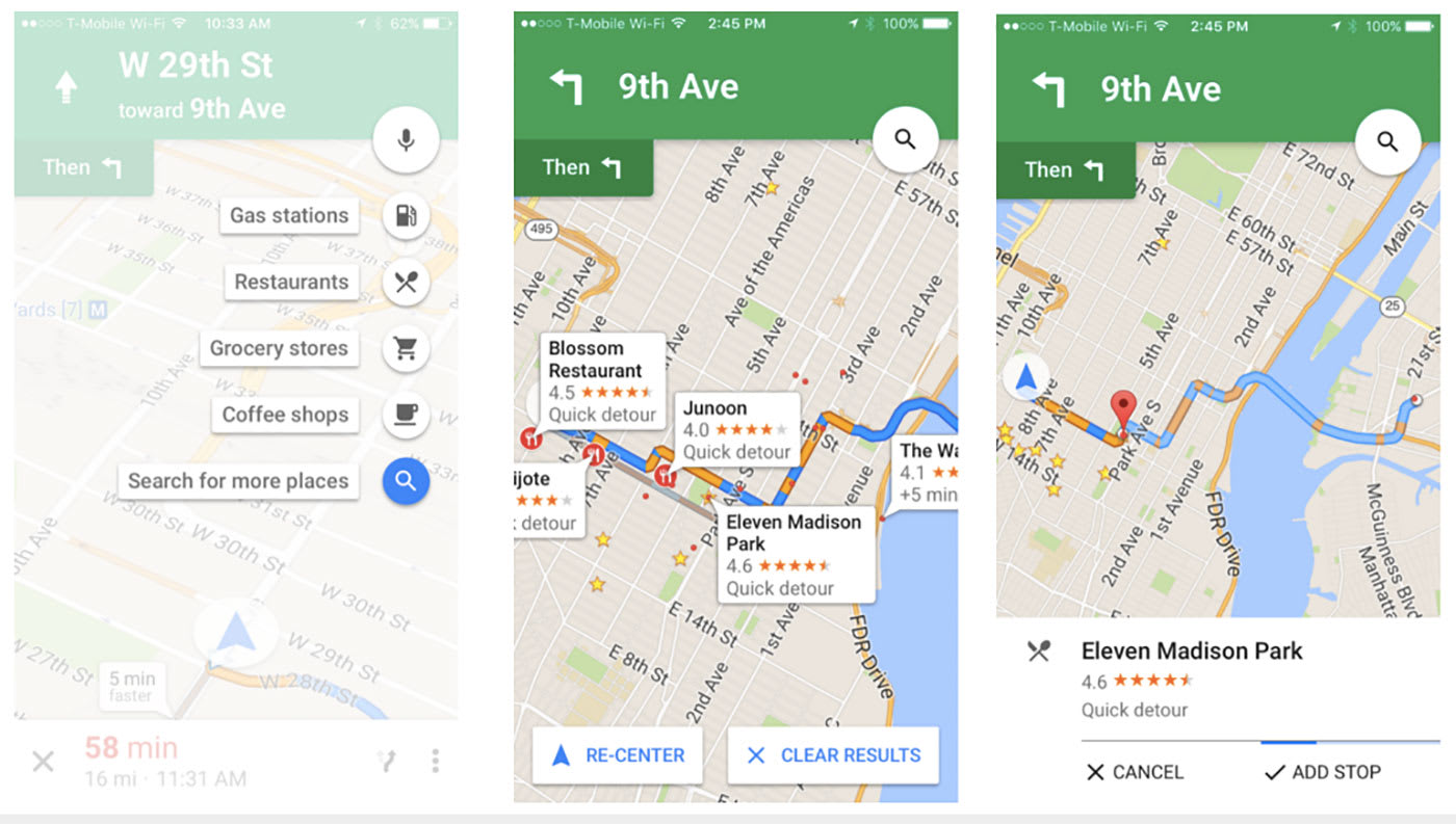 How to draw a route on google maps iphone