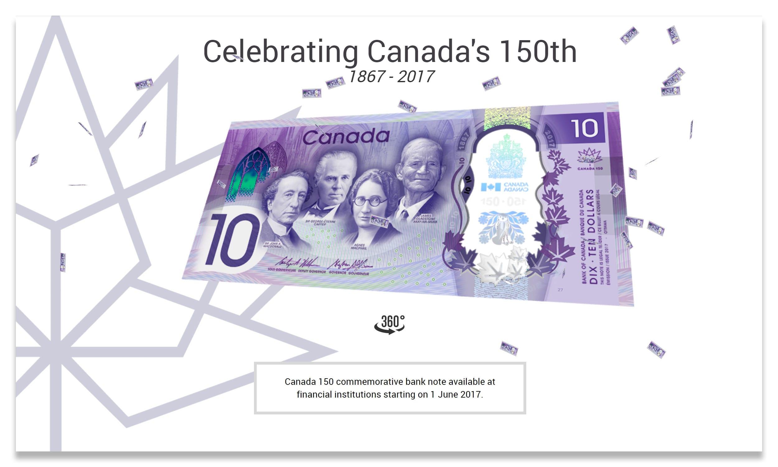 Canada hid the Konami Code in its commemorative $10 bill launch