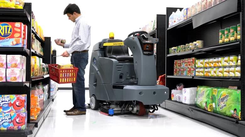 Walmart is testing a self-driving, floor-scrubbing robot
