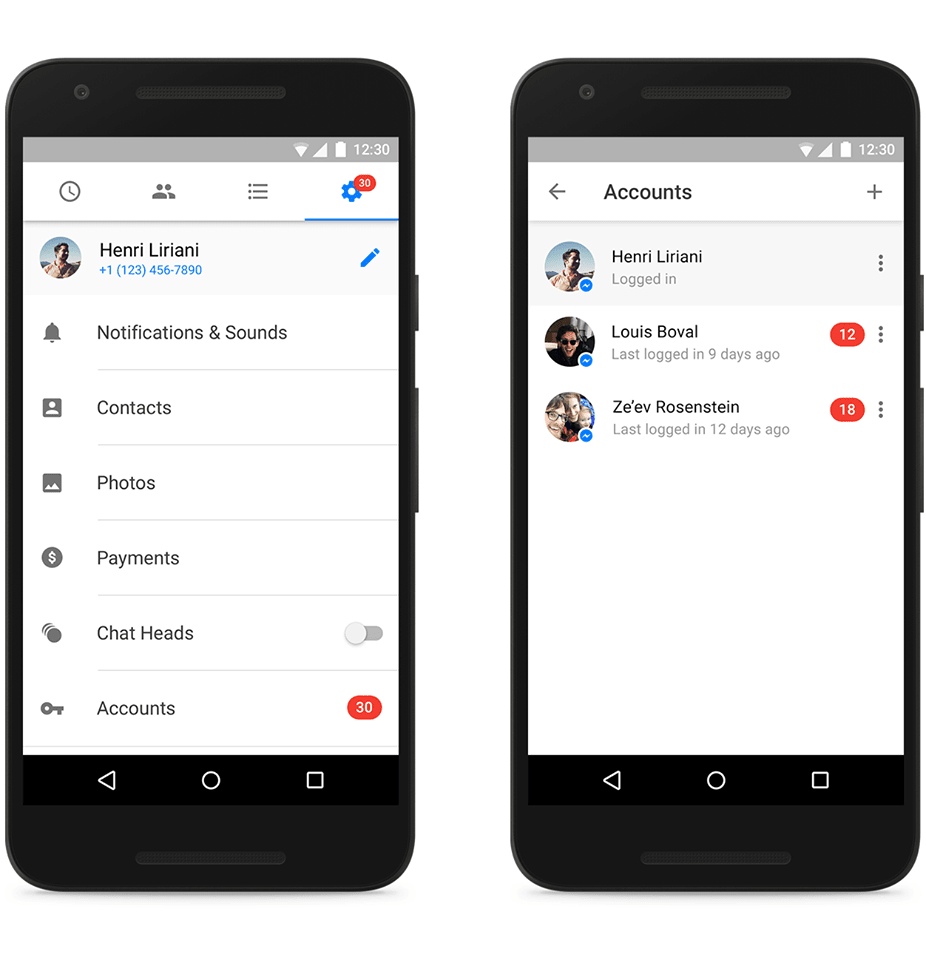 Facebook Messenger for Android now supports multiple accounts