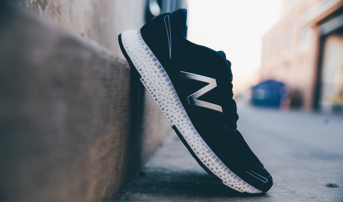newest 85660 b2f58 Following in the footsteps of sportswear rival Adidas, New Balance today  introduced its own 3D-printed running shoe. Created in collaboration with  3DSystems ...