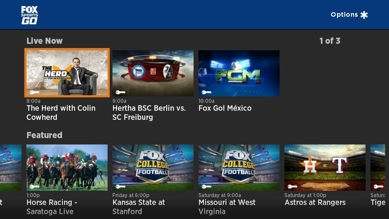Fox Sports Go is streaming on Chromecast and Roku too