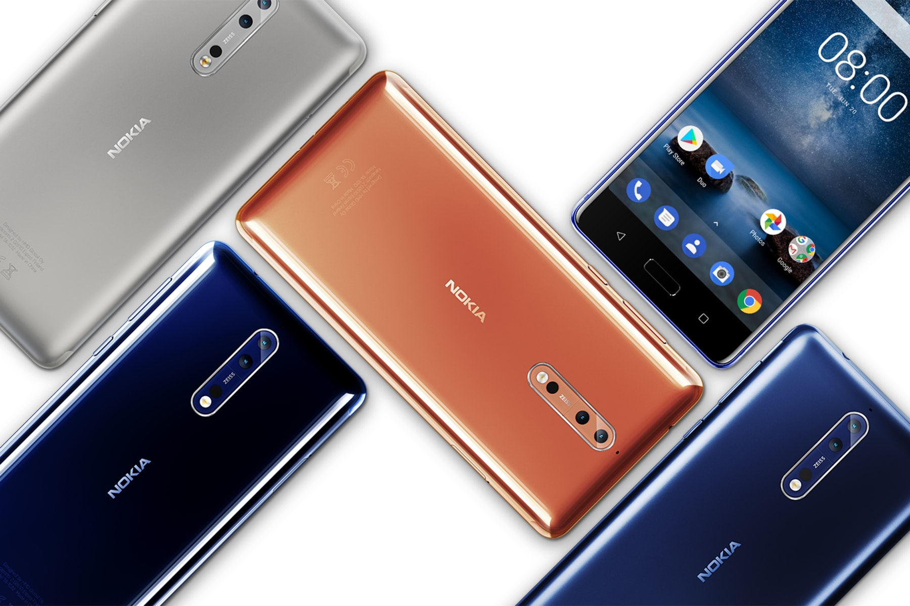 The Nokia 8 flagship is available to pre-order in the UK
