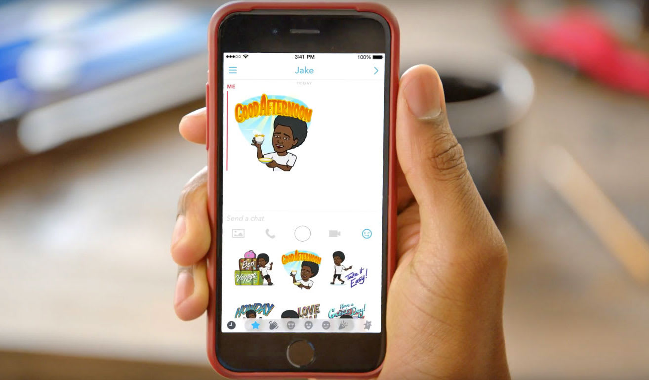 Your BFF Bitmoji stickers now work outside Snapchat on iOS