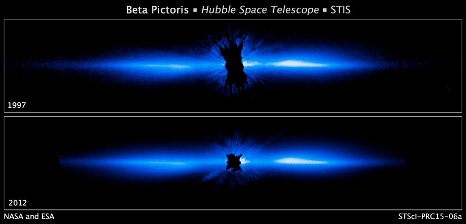 Hubble photo of a star can help scientists study how planets