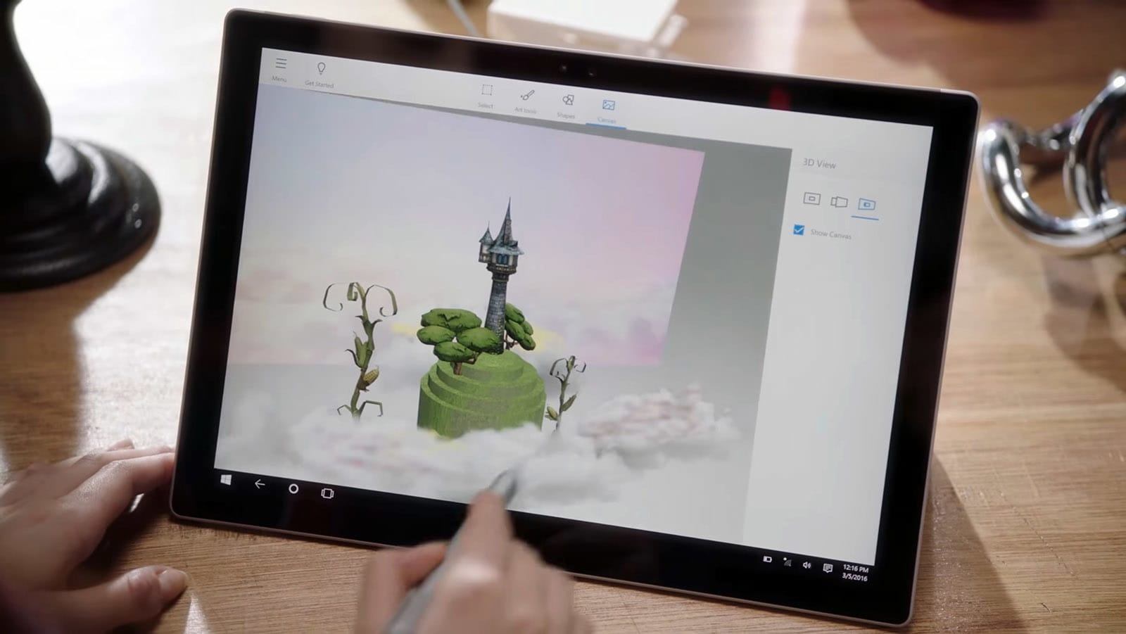 Microsoft's Paint 3D app arrives on Windows 10 preview