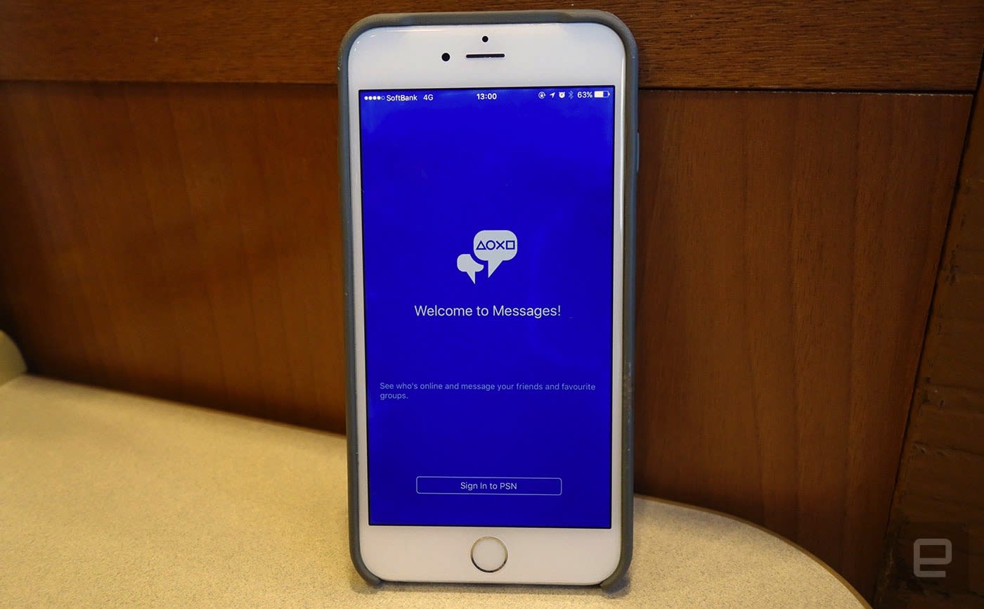 There's a PlayStation messaging app for your phone now