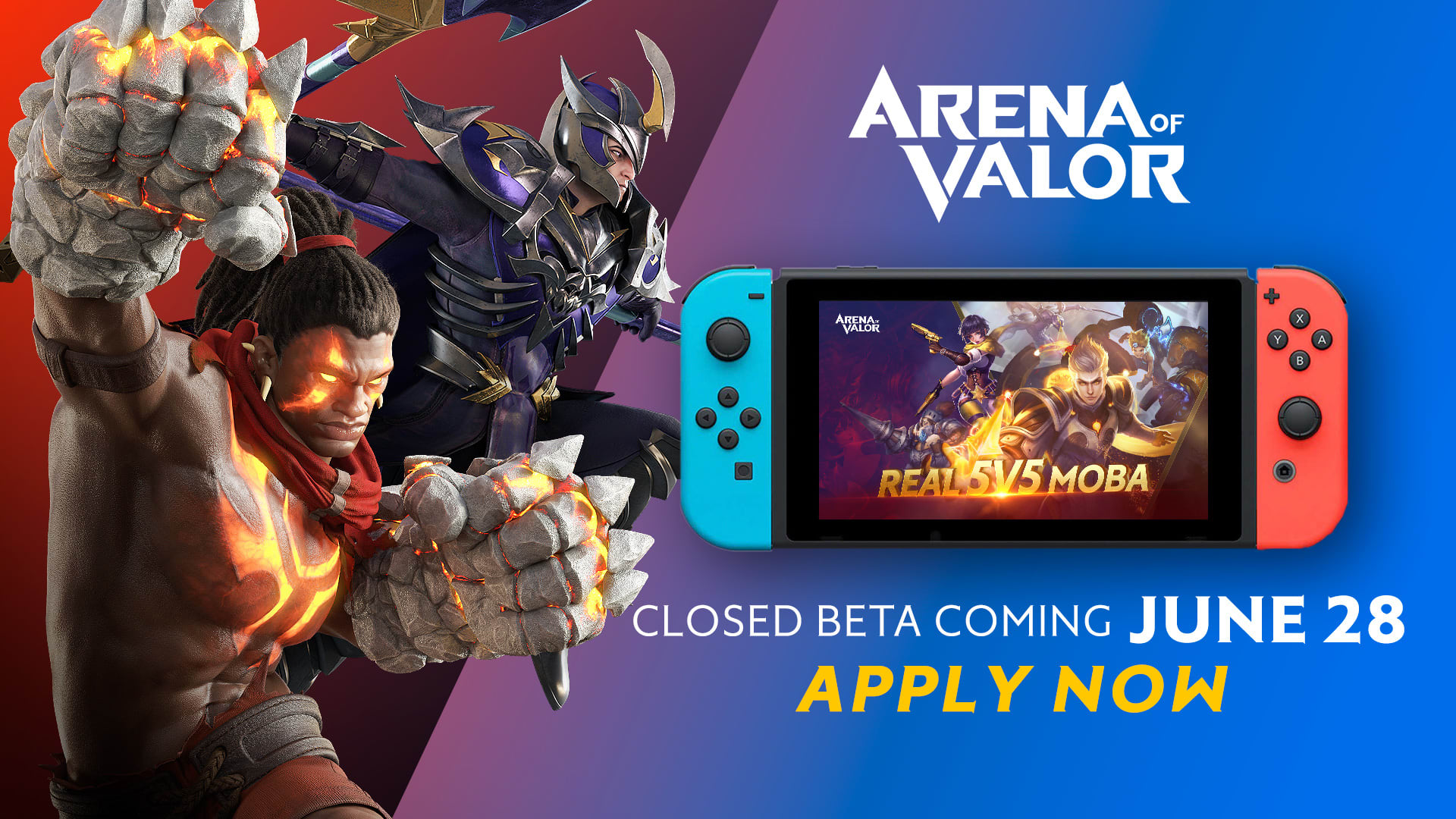 Arena of Valor' beta registration for Nintendo Switch is live