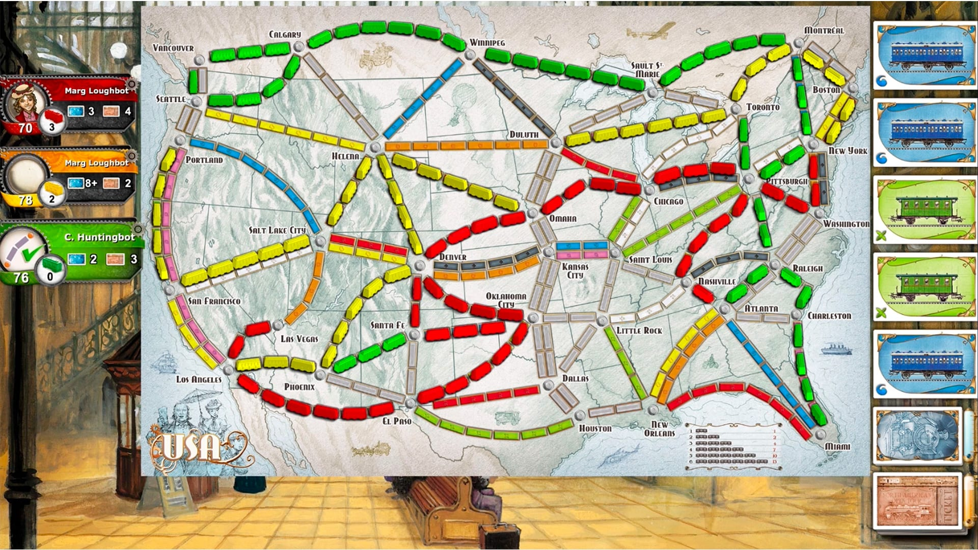 Ticket To Ride Moves From Tabletop To Ps4 And Playlink Mobile