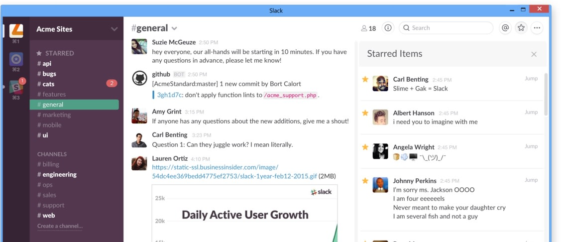 Slack ties in with Windows 10's notification center