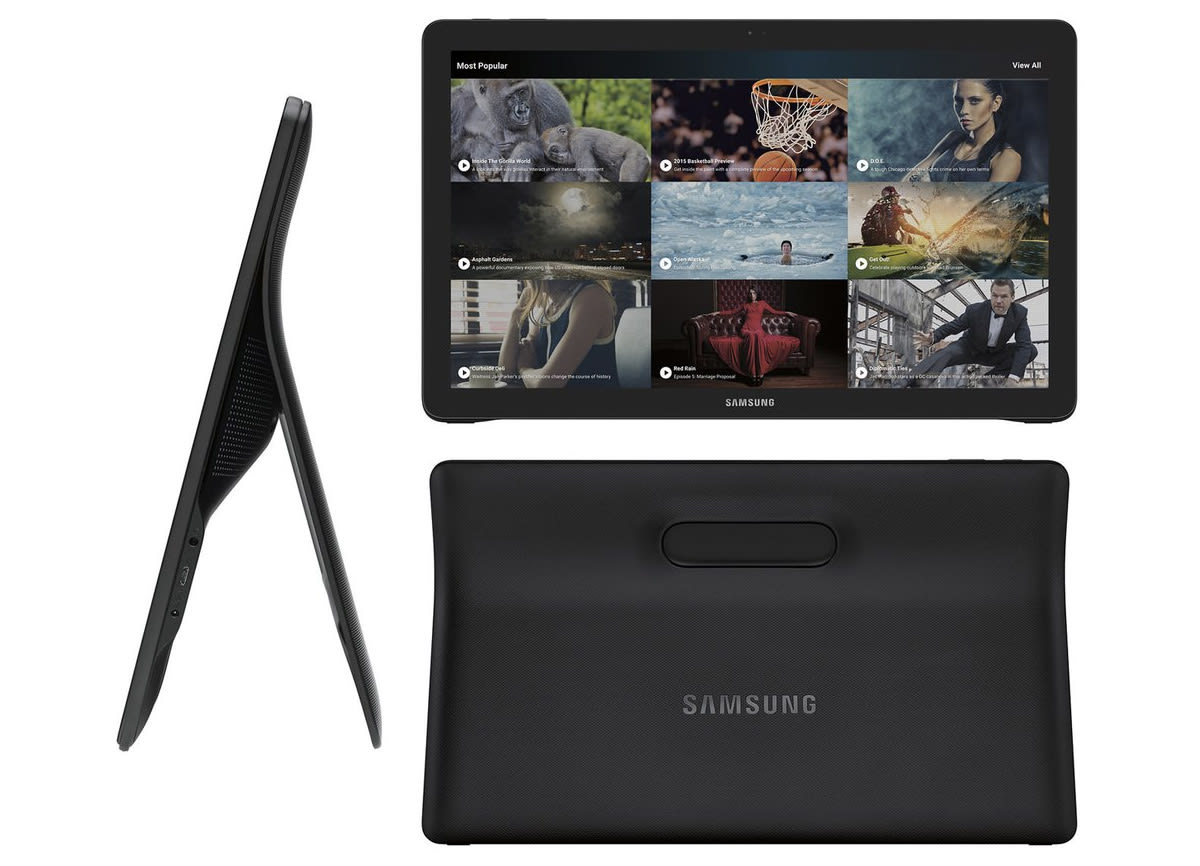 Samsung's supersized Galaxy View tablet looks like this