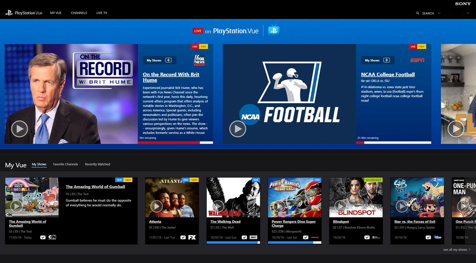 Sony's PlayStation TV service comes to Mac and PC browsers