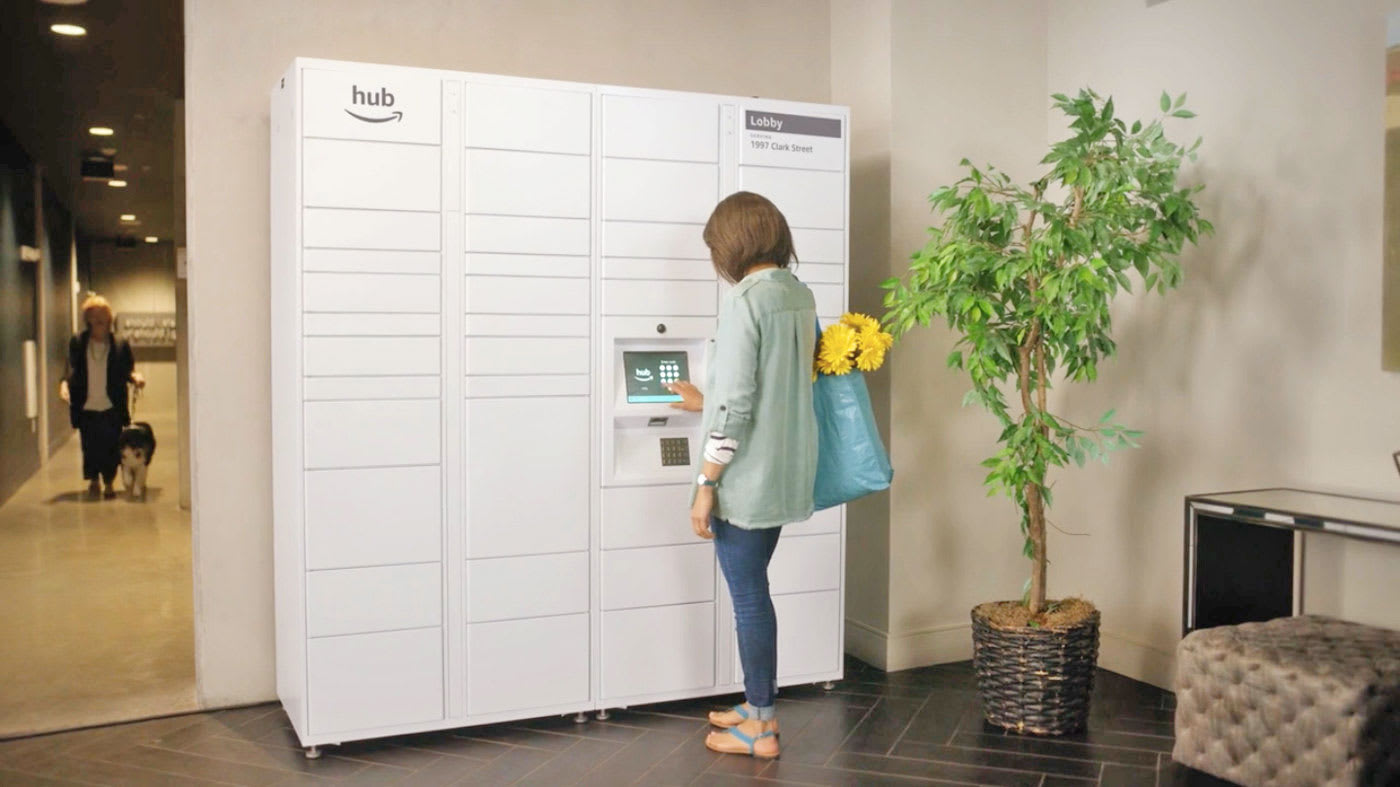 Amazon S The Hub Is A Delivery Locker For Residential Buildings