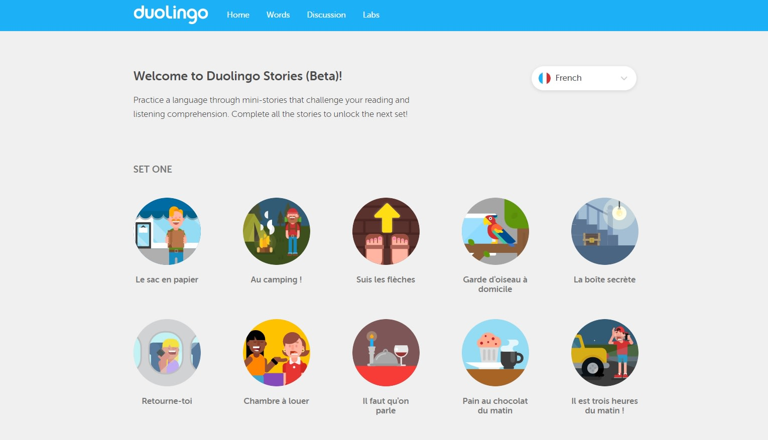 Duolingo adds French and German to its short story library