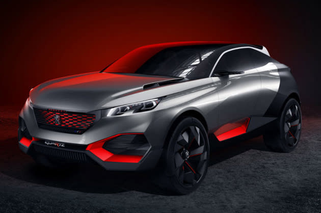 If You Had Any Lingering Concerns That Hybrid Cars Were Boring Peugeot Just Smashed Them To Bits Its New Quartz Crossover Concept Blends The Muscular