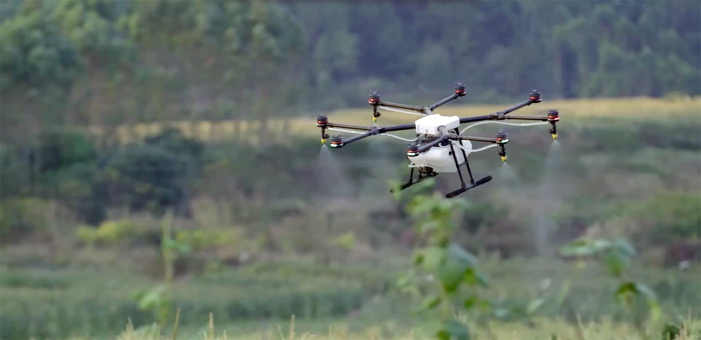 DJI's MG-1 drone is water-resistant, dustproof   and made for farming