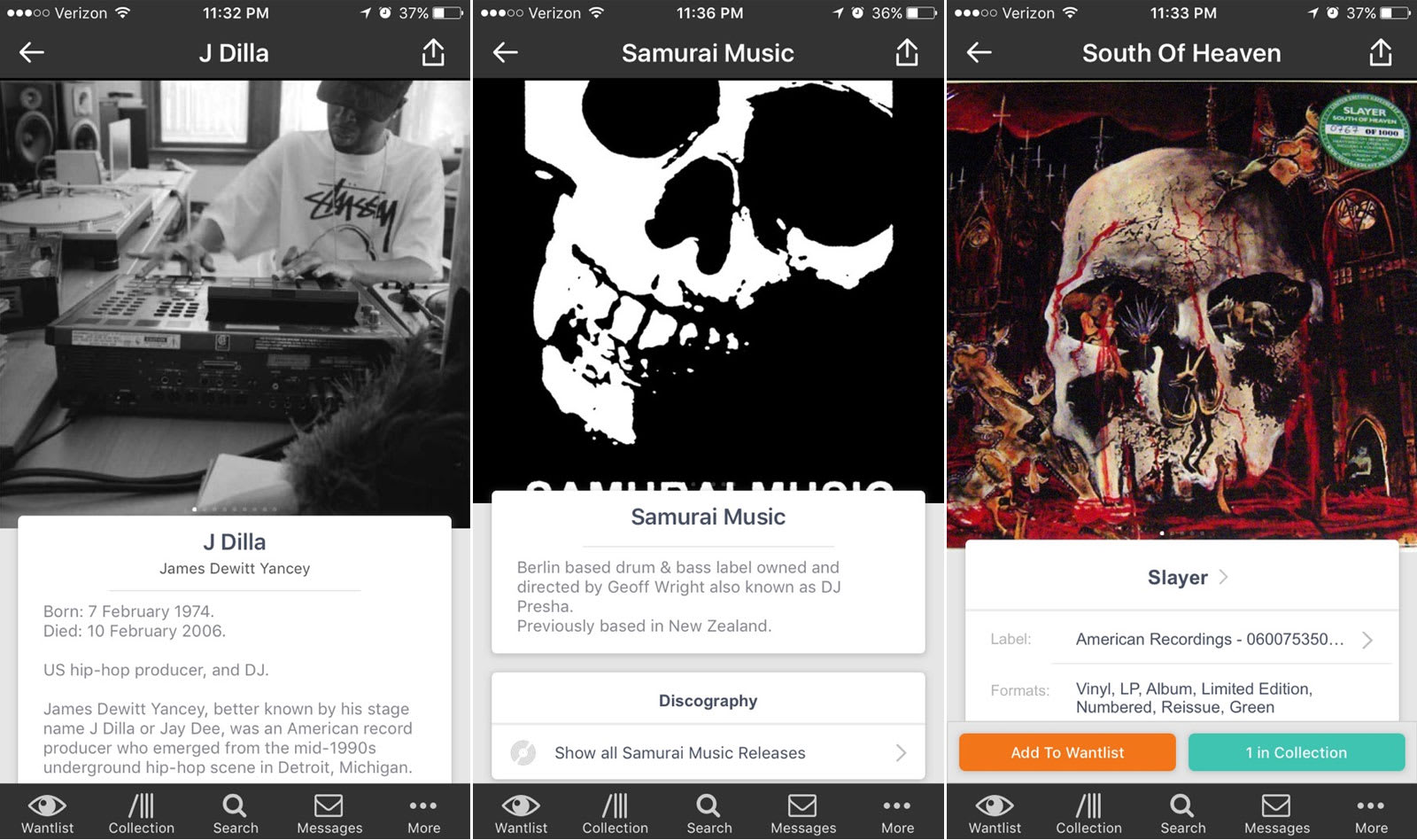 Discogs' vinyl app offers more info on artists, labels and