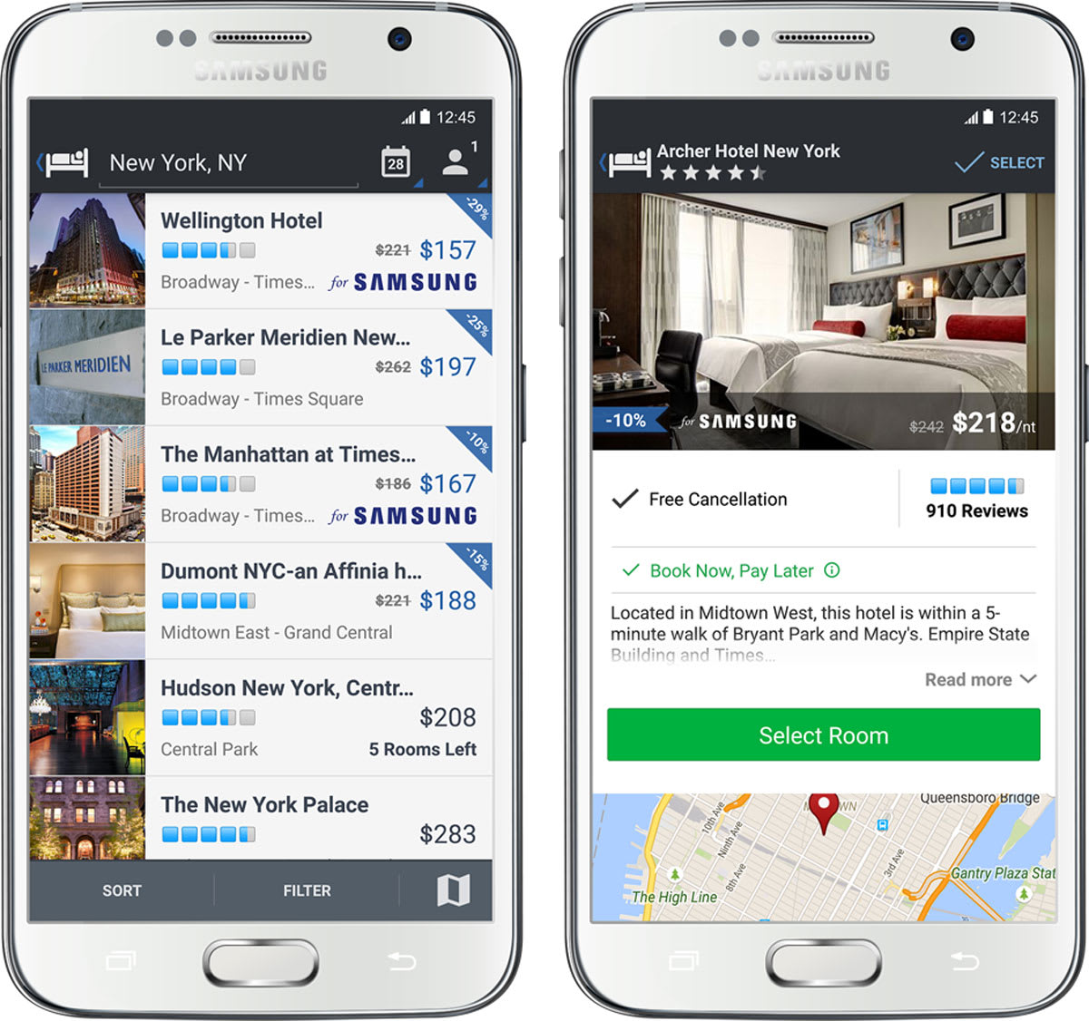 Expedia releases an app exclusively for Samsung