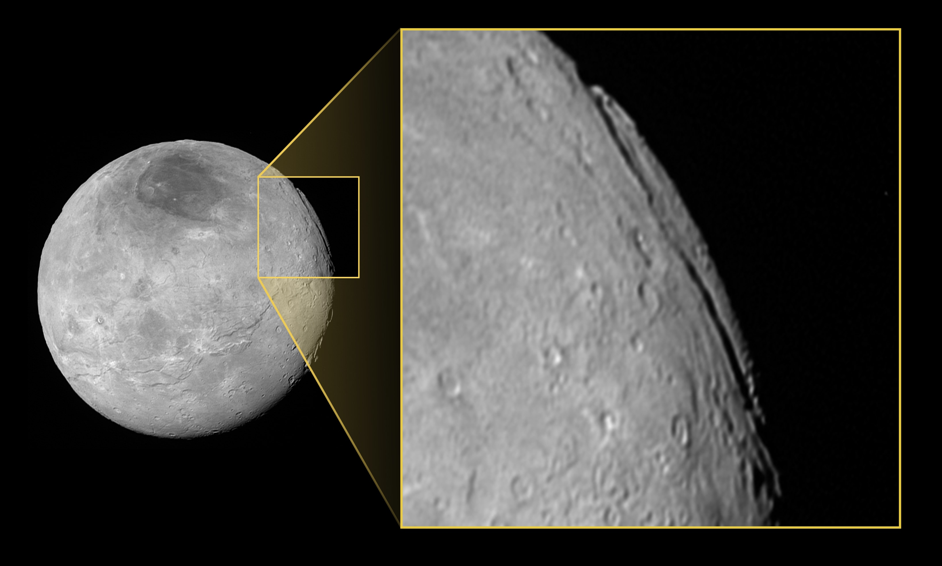 Pluto S Moon Charon Features A Massive Deep Chasm Engadget