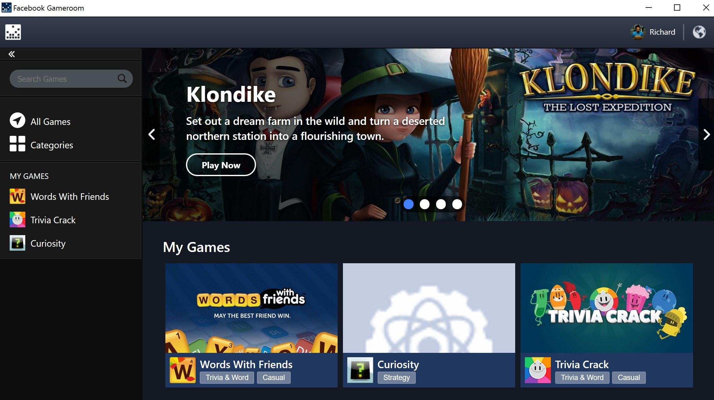 Gameroom is Facebook's antiquated answer to Steam