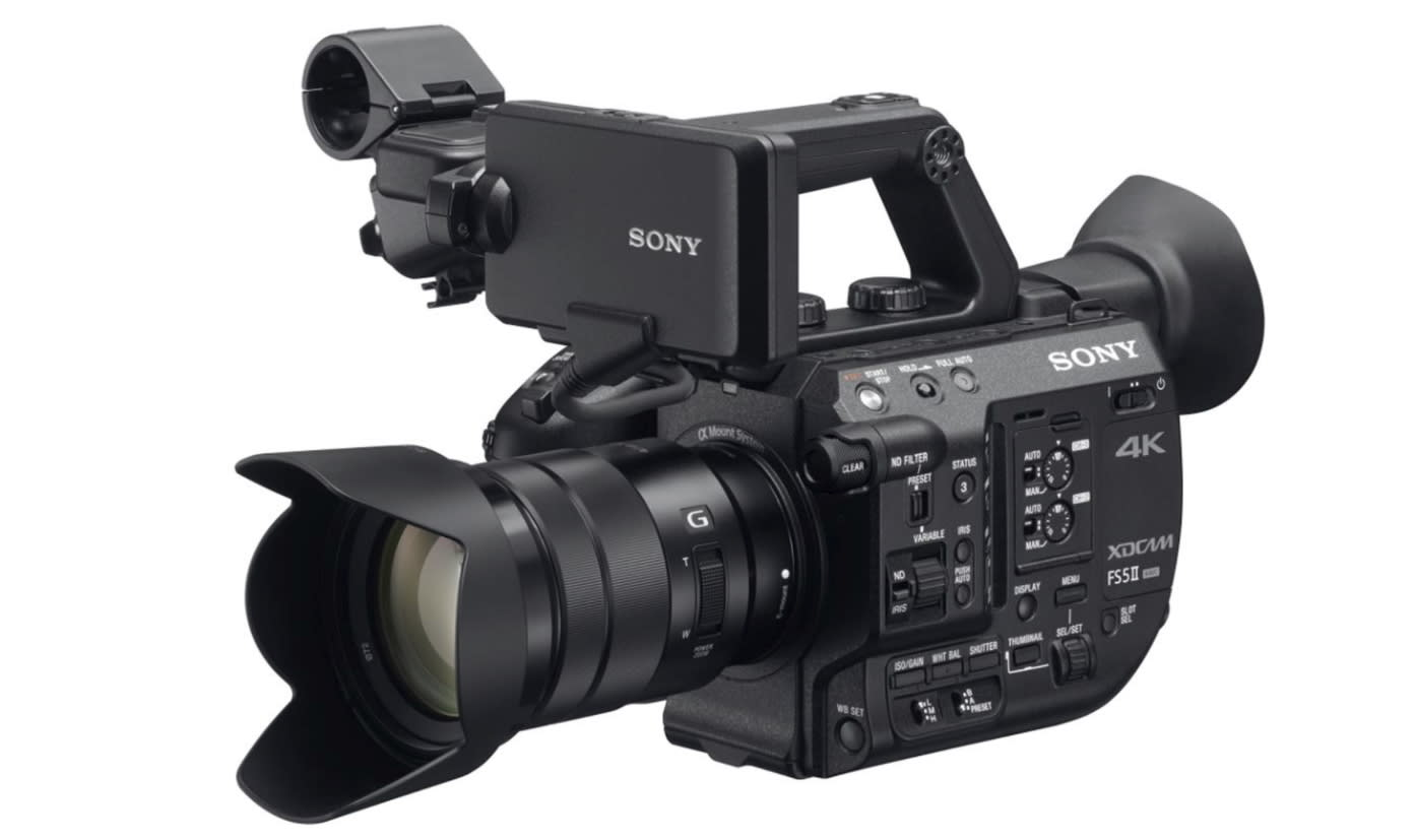 4k Video Camera >> Sony S Pro 4k Camcorder Has 4k Raw And Instant Hdr