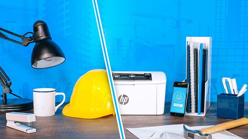 HP's new laser printers are much smaller than previous