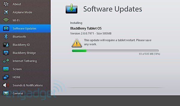 BlackBerry PlayBook OS 2 0 now ready for download