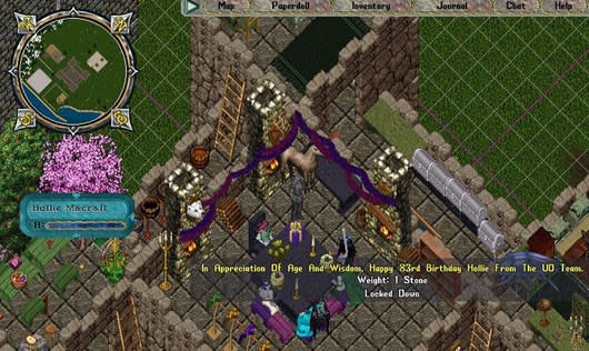 Ultima Online celebrates player's 83rd birthday in game
