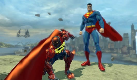 Dcuo Examines The Meta Human Power Suits