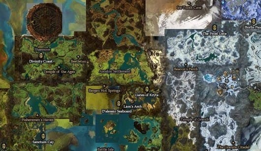 Guild Wars 1 World Map.Guild Wars 2 Fan Compares New Game Map To Original