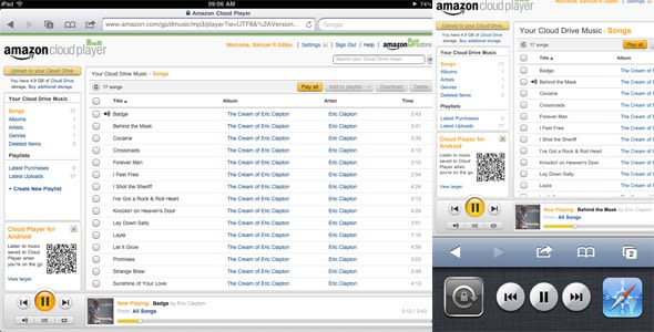 Amazon Cloud Player now streams music on the iPhone and iPad